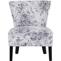 Product photograph showing Austen Linen Lounge Chaise Chair In Floral