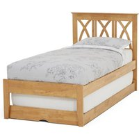 Autumn Hevea Wooden Single Bed And Guest Bed In Honey Oak