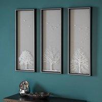 Three Autumn Tree Artwork Framed Wall Art