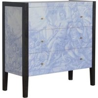 Product photograph showing Avanti Wooden Chest Of 3 Drawers In Sculpture Pattern