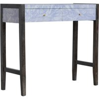 Product photograph showing Avanti Wooden Console Table In Sculpture Pattern