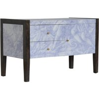 Product photograph showing Avanti Wooden Tv Stand In Sculpture Pattern