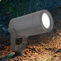 Product photograph showing Avior Garden Spike Outdoor Light In Grey