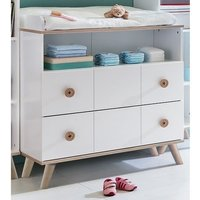 Product photograph showing Avira Childrens Changer Drawers Chest In Alpine White And Oak