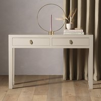 Product photograph showing Avlion Large Wooden Console Table In Oyster Grey