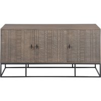 Aztek Wooden Sideboard In Acacia With 3 Doors