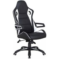 Product photograph showing Balliemore Home And Office Chair With Arms In Black And White