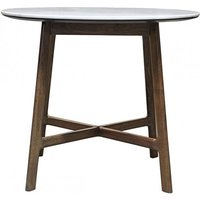 Product photograph showing Barcelona Round Marble Top Dining Table