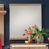 Product photograph showing Barcelona Wall Mirror In Planked Oak
