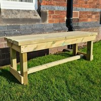Product photograph showing Barkingside Wooden Outdoor 2 Seater Bench
