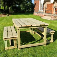 Product photograph showing Barkingside Wooden Outdoor 6 Seater Dining Set