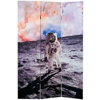 Product photograph showing Barnt Space Man Double Sided Print Design Room Divider