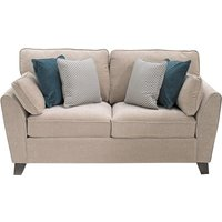 Product photograph showing Barresi Chenille Fabric Two Seater Sofa In Almond Finish