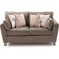 Product photograph showing Barresi Chenille Fabric Two Seater Sofa In Mushroom Finish