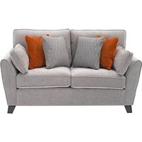 Product photograph showing Barresi Chenille Fabric Two Seater Sofa In Silver Finish