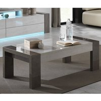 Product photograph showing Basix Coffee Table In Dark And White Marble Effect Gloss