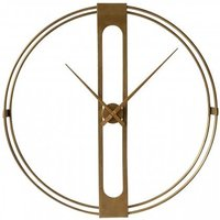 Product photograph showing Beauly Metal Wall Clock In Gold