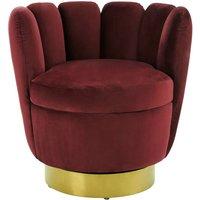 image-Beauly Velvet Bedroom Chair In Wine