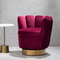 image-Beauly Velvet Bedroom Chair In Blue