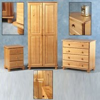 SOL Super Trio Bedroom Set in Antique Pine