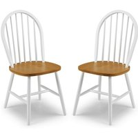 Beecher Wooden Dining Chair In White And Oak In A Pair