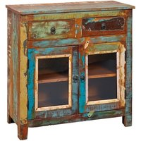 Belavo Compact Sideboard In Reclaimed Wood With 2 Doors