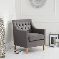 Bellard Fabric Sofa Chair In Grey With Natural Ash Legs