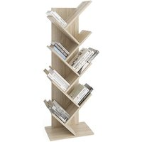 Product photograph showing Bellevue Floor Standing Wooden Bookcase In Sonoma Oak