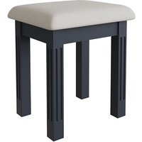 Product photograph showing Belton Wooden Dressing Stool In Midnight Grey
