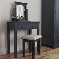 Belton Wooden Dressing Table Set In Midnight Grey