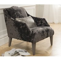 Belvedere Velvet Accent Chair In Champagne With 1 Bolster