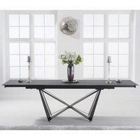 Benjamia Ceramic Extending Dining Table In Grey