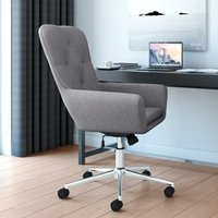 Product photograph showing Benjamin Fabric Home And Office Chair In Grey