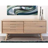 Bergen Wooden Sideboard In Light Oak With 2 Drawers