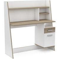 image-Bestar Wooden Computer Desk In Matt White And Kronberg Oak