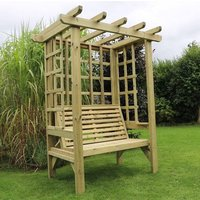 Product photograph showing Betovan Wooden 2 Seater Arbour