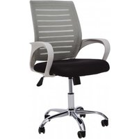 Product photograph showing Bicot Home And Office Chair With Armrests In Grey