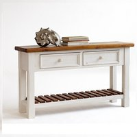 Boddem Console Table White Pine Cottage Style