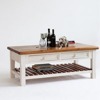 Boddem Coffee Table White Pine Cottage Style