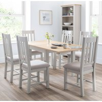 Bohemia Extending Flip-Top Dining Table In Elephant Grey With 6 Chairs