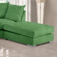 Product photograph showing Boise Plush Velvet Footstool In Olive