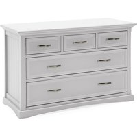 Product photograph showing Boody Wooden Wide Chest Of Drawers In White Pained Finish