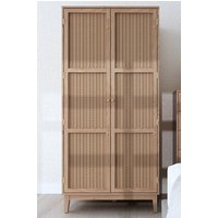 Product photograph showing Bordeaux Wooden Wardrobe In Oak With 2 Doors