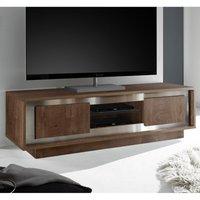 Product photograph showing Borden Wooden 2 Doors Tv Stand In Cognac Oak