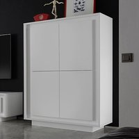 Product photograph showing Borden Wooden Highboard In Matt White