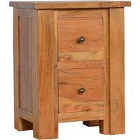 Boston Wooden Bedside Cabinet In Caramel