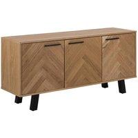 Boulder Wooden 3 Doors Sideboard In Oak