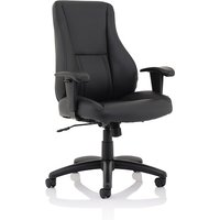 Product photograph showing Bouldin Bonded Leather Office Chair In Black