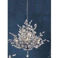 Bouquet Wall Hung 7 Pendant Light In Chrome With Crystal Gla