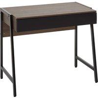 Product photograph showing Bradken Wooden 1 Drawer Computer Desk In Dark Oak